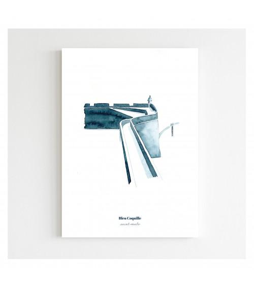 Affiche Les Remparts - Bleu Coquille