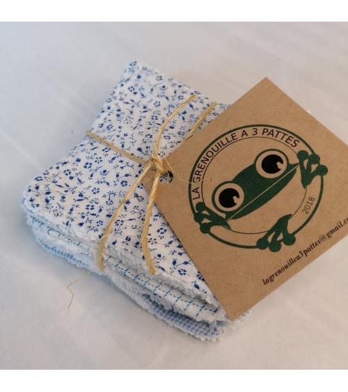 Lot de 7 lingettes lavables et réutilisables - La grenouille à 3 pattes