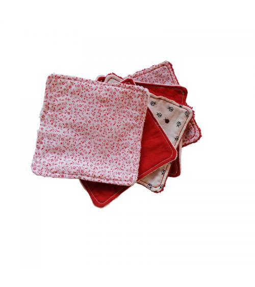 Lot de 5 lingettes XL lavables et réutilisables - La Grenouille à 3 pattes