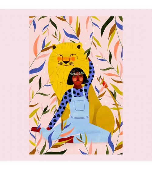 Affiche Lion - Maison Patate