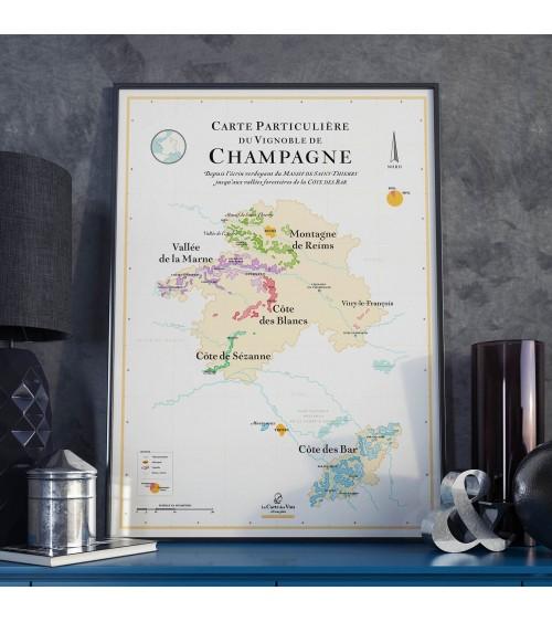 Affiche - Carte des vins Champagne