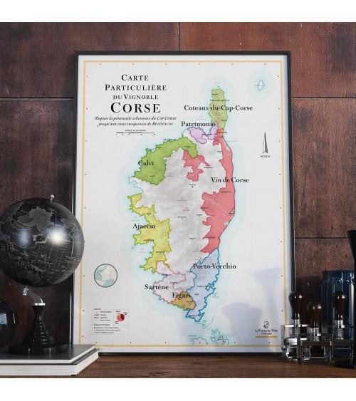 Affiche - Carte des vins Corse