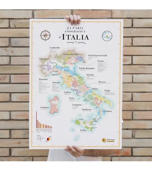 Affiche - Carte des Vins d'Italie