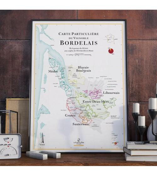 Affiche - Carte des vins de Bordeaux