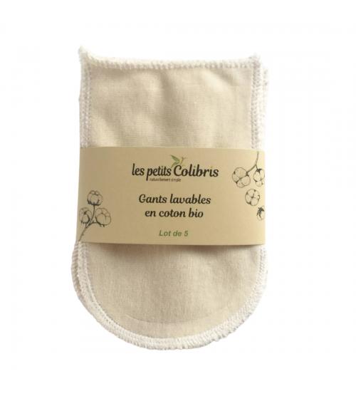 Gants lavables en coton Bio - Les Petits Colibris