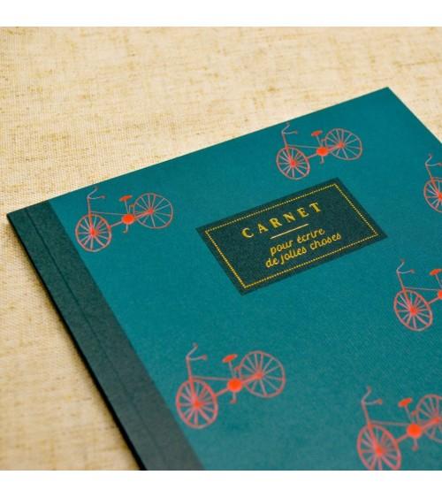 Carnet A5 Les Bicyclettes - Bleu coquille